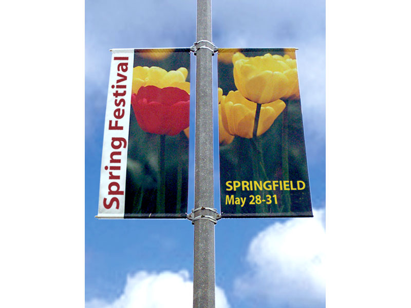Exhibit Design Search Boulevard Pole Banners Outdoor