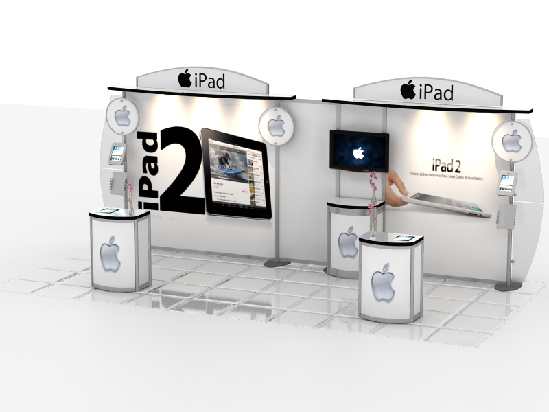 Exhibit Design Search MOD 1288 Pedestal Counters