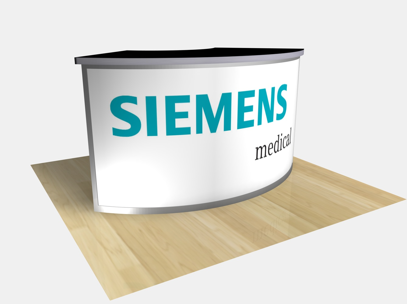 Exhibit Design Search Re 1205 Large Curved Counter