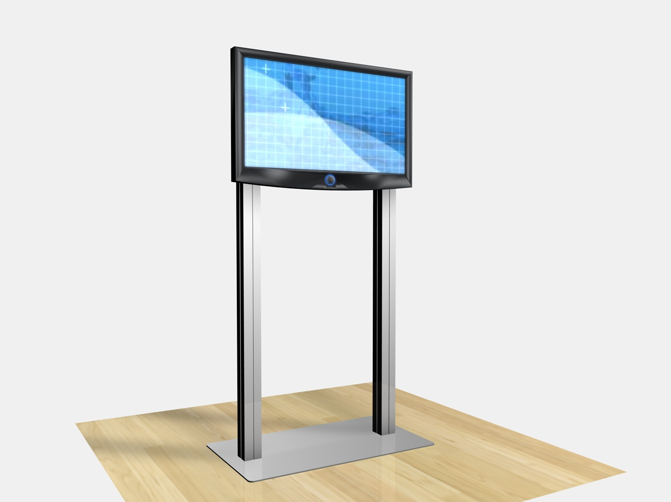 Exhibit Design Search RE 1229 Large Monitor Kiosk