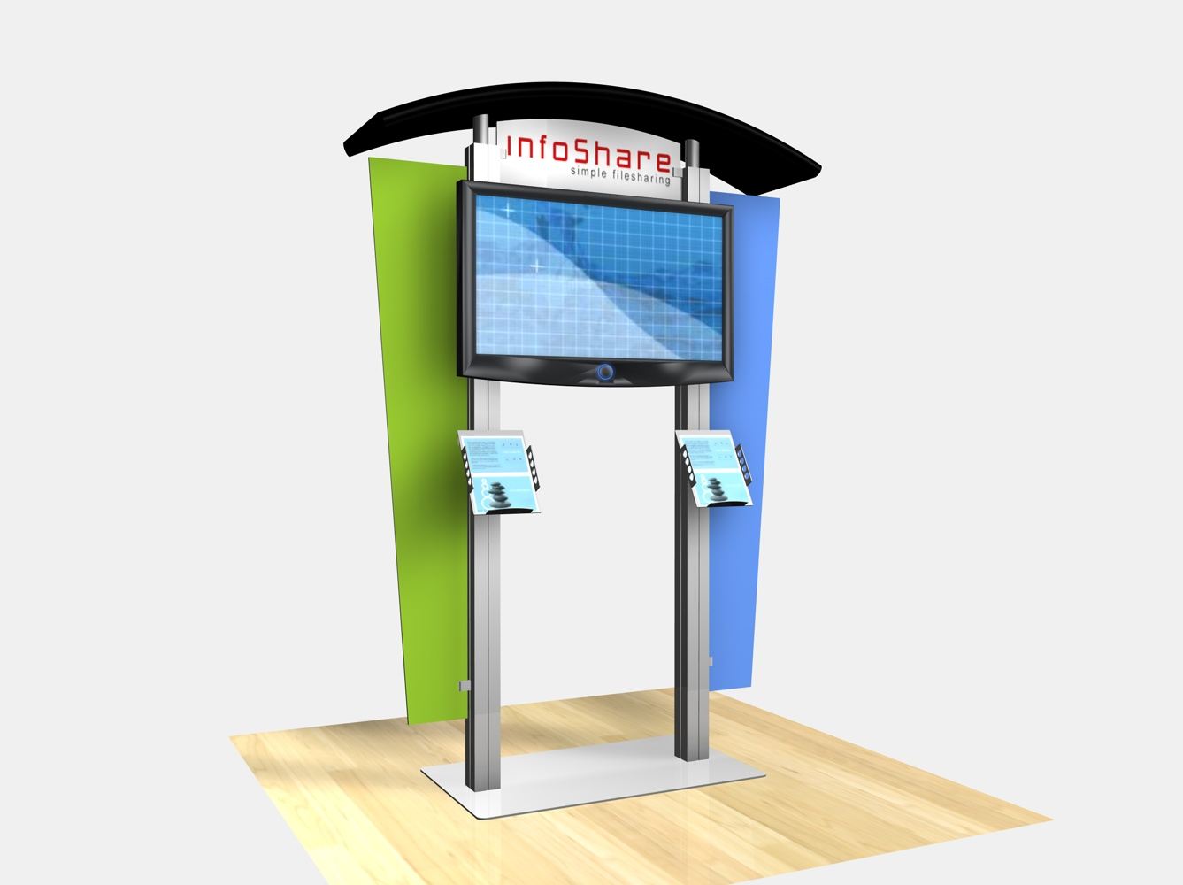 Exhibit Design Search Re 1230 Large Monitor Kiosk With