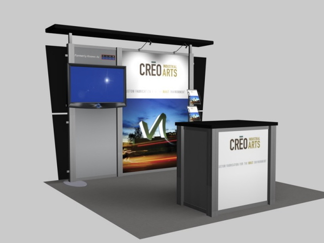 Trade Show Booth Kiosks : Exhibit design search re creo arts rental inline
