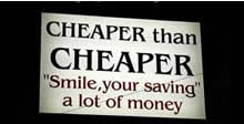 Cheaper than Cheaper?