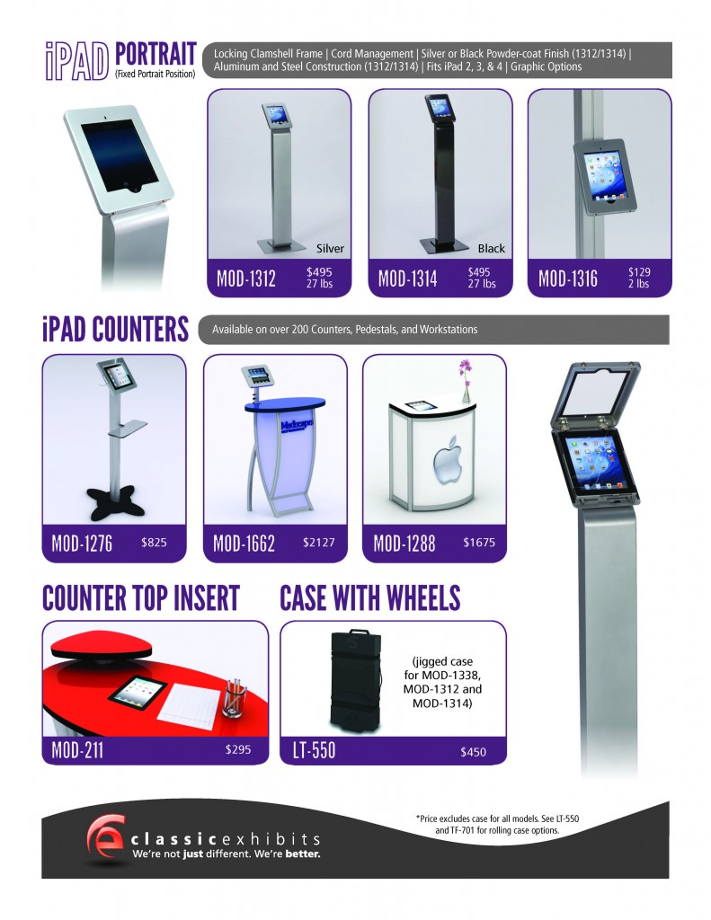 iPad Kiosks and Stands for Trade Shows, Events, and Retail