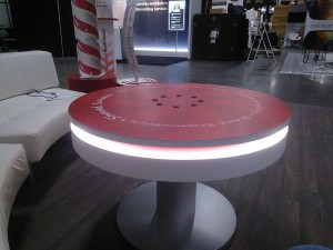 Coffee Table Charging Station with LED Lights