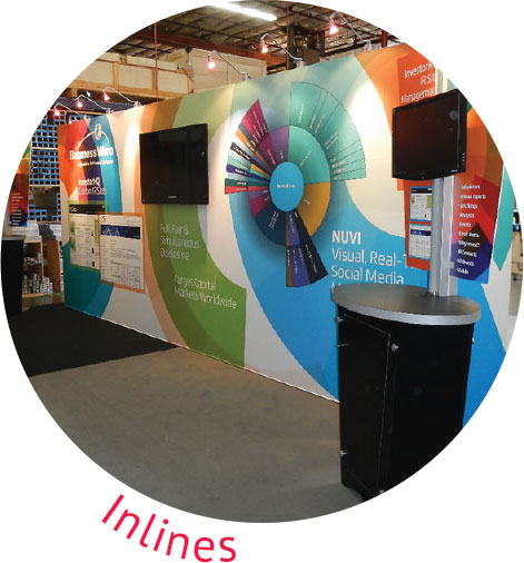 Trade Show Inline Display Rental