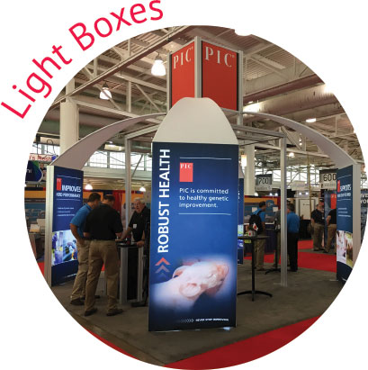 Trade Show LED Backlit Lightbox Rental