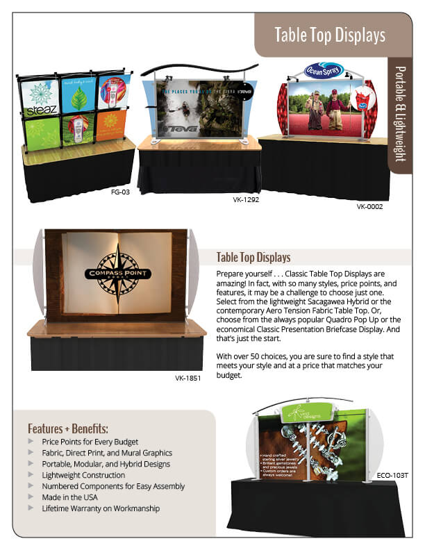 Table Tops — Affordable and Contemporary Tradeshow and Event Tabletops
