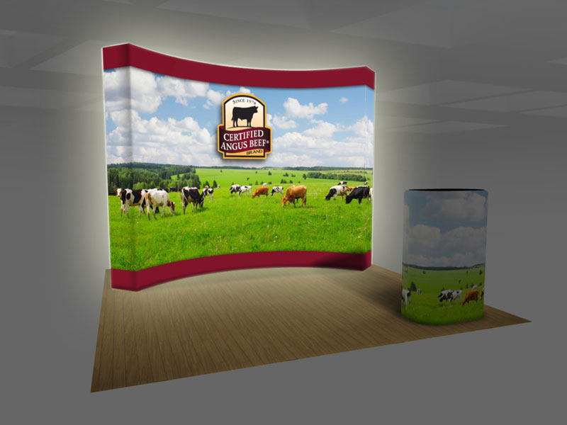 Exhibit Design Search - BACKLIT VBURST 10 ft. Curved Fabric Pop-up (Fabric Pop-up Displays (OP ...