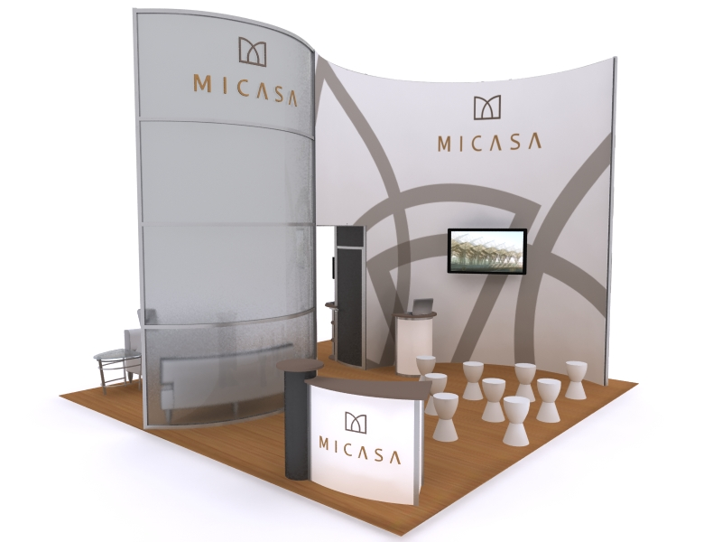Exhibition Booth Accessories : Exhibit design search vk hybrid island