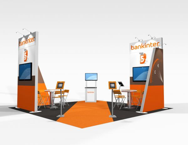 RE-9074 Bankinter Trade Show Rental Exhibit -- Image 1