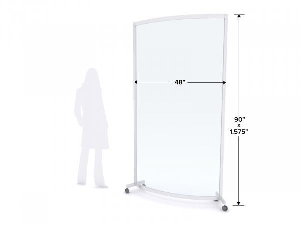 MOD-8017 Safety Divider Dimensions