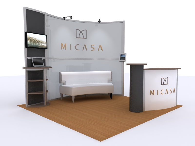 Exhibition Booth Area : Exhibit design search mod reception counter