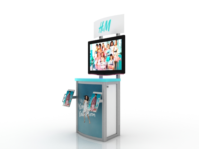 Trade Show Booth Kiosks : Exhibit design search mod monitor stand