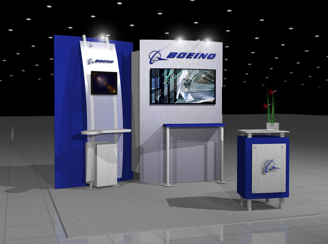 Exhibition Stand With Monitor : Exhibit design search mod workstation monitor