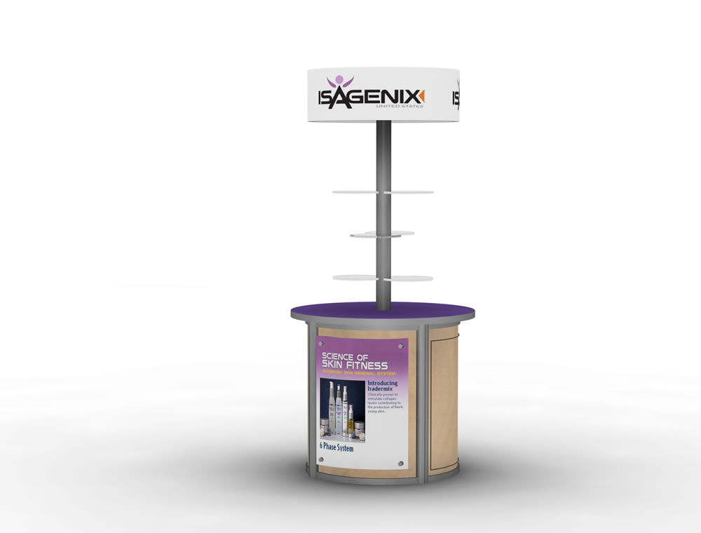 Trade Show Booth Kiosks : Exhibit design search mod kiosk monitor stands