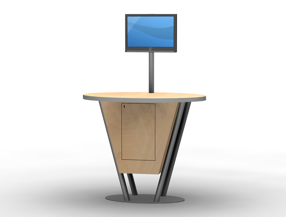 Exhibit Design Search Mod 1180 Monitor Stand Monitor Stands
