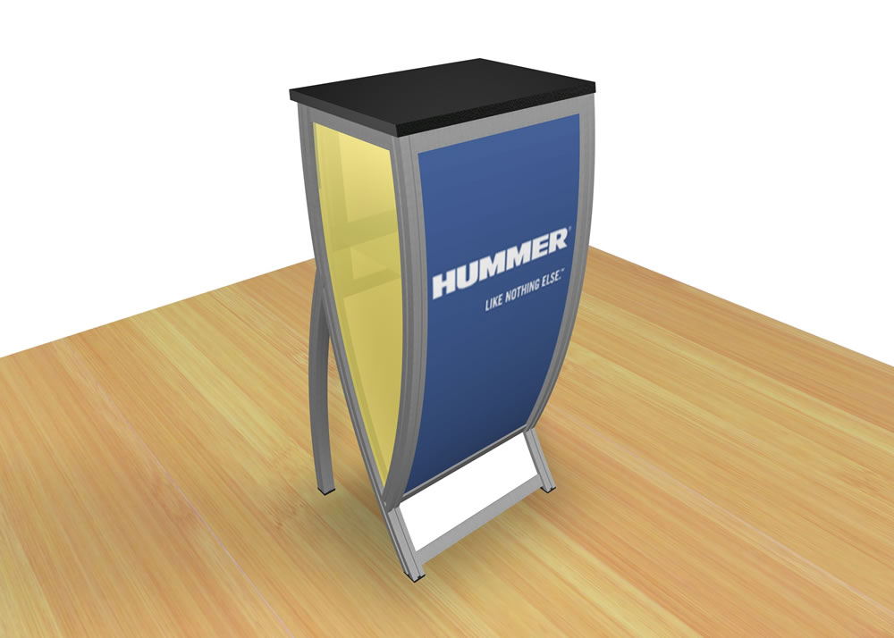 VK-1601 Tradeshow Counter or Pedestal