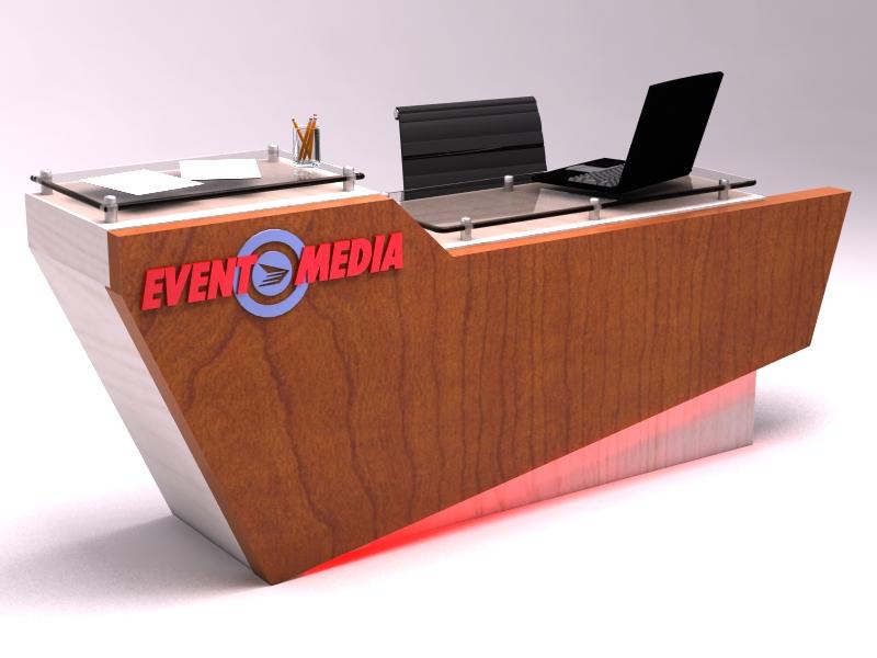 Custom Desk Designs exhibit design search - dm-0783 custom desk (design monday
