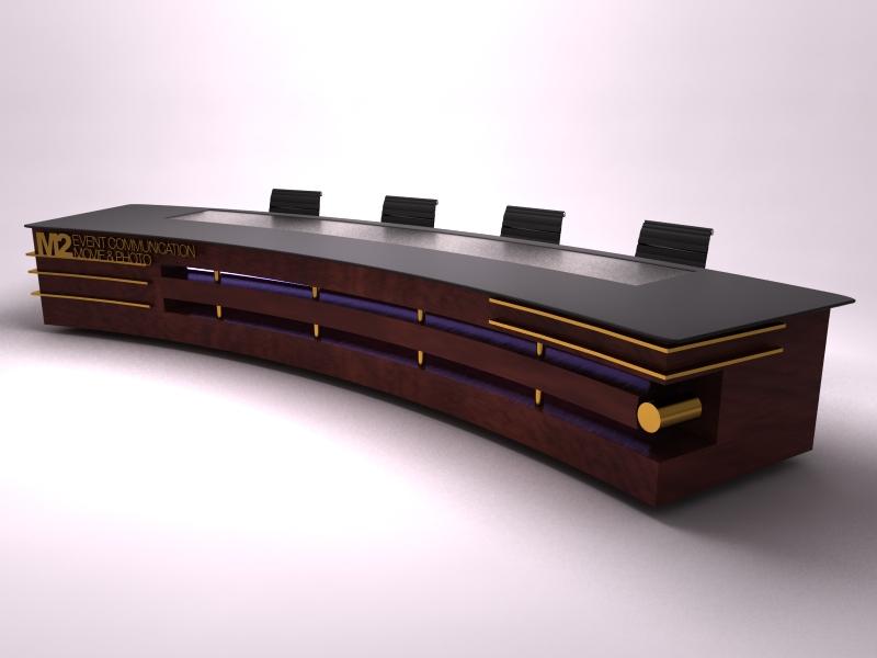 Custom Desk Designs exhibit design search - dm-0784 custom desk (design monday