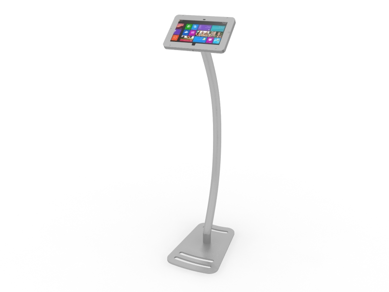 MOD-1336M Portable Surface 2 Kiosk -- Silver