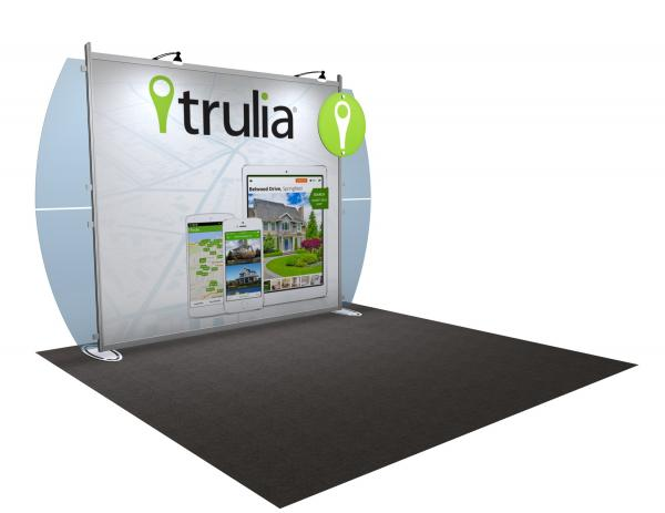 VK-1218 Portable Hybrid Trade Show Exhibit -- Convex Wings