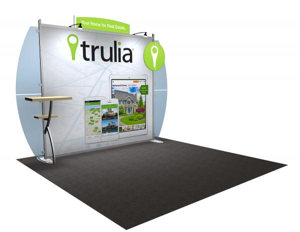 VK-1222 Portable Hybrid Trade Show Exhibit -- Convex Wings