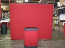 QD-139 Quadro S Pop Up Display with Fabric Panels and a Case-to-Counter Conversion