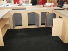 Custom Modular Laminate Counters with Locking Storage and Shelves for Island Exhibit -- Image 2