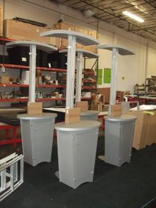 (4) MOD-1133 Workstation/Kiosks with Canopy and Locking Storage -- Image 1