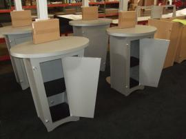 (4) MOD-1133 Workstation/Kiosks with Canopy and Locking Storage -- Image 2