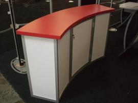 MOD-1185 Modular Counter with Locking Doors and Shelves -- Image 2