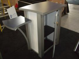 MOD-1176 Modular Counter with Side Shelves and Locking Storage -- Image 2