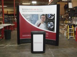 EO-03C Quadro EO 8 ft. Pop Up Display with Mural Graphics and Case-to-Counter Conversion