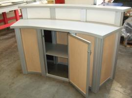 MOD-1143 Modular Reception Counter with Locking Storage -- Image 2