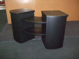 Modified LT-111 Modular Counter with Additional Shelves and Locking Storage -- Image 1