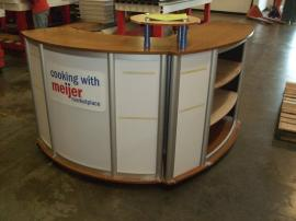 Custom Modular Counter with Storage Constructed with Eco-friendly Materials -- Image 1