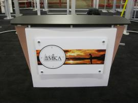 eSmart Custom Reception Counter w/ Wing Accents and Lockable Storage -- Image 1