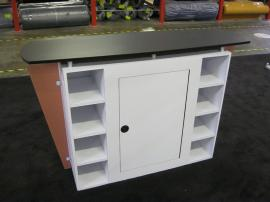 eSmart Custom Reception Counter w/ Wing Accents and Lockable Storage -- Image 2