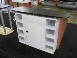 eSmart Custom Reception Counter w/ Wing Accents and Lockable Storage -- Image 3