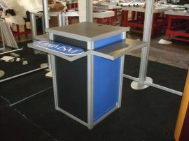 Custom Modular Counter with Three Shelves and Locking Storage -- Image 1