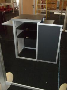 Custom Modular Counter with Three Shelves and Locking Storage -- Image 2