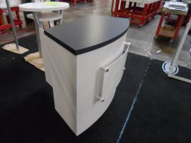 LTK-1011 Modular Laminate Counter with Standoff Graphics and Locking Storage -- Image 1