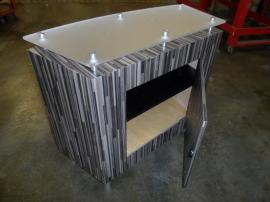 MOD-1162 Counter with Locking Storage, Graphics, and Custom Fabric-lined Crate -- Image 2