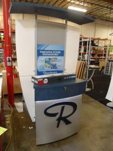 Custom Kiosk with Canopy and Storage Drawer -- Image 1