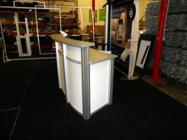 Large Custom Modular Reception Counter with Locking Storage -- Image 1