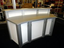 Large Custom Modular Reception Counter with Locking Storage -- Image 2