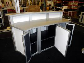 Large Custom Modular Reception Counter with Locking Storage -- Image 3