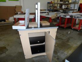 Custom Modular Double-side Workstation with Locking Storage -- Image 2