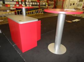 LT-116 Modular Laminate Counter with Shelf and Locking Storage and (2) Bistro Tables -- Image 2